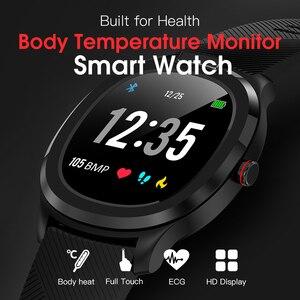 "Image 2 - אק""ג + PPG טמפרטורת צג קצב לב לחץ דם IP68 עמיד למים חכם שעון גשש כושר RUGUM T01 ספורט שעוני יד"