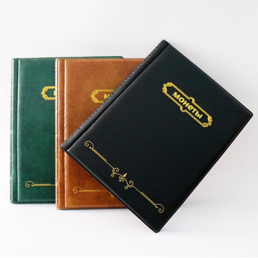 Album version russe pour coins.10 pages 250 pochettes | Cahier de collection de pièces commémoratives, Badges album