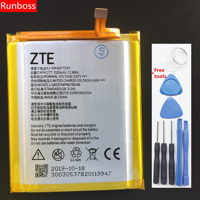 2019 100% Nuovo Originale 3320mAh Li3933T44P6h756346 Per zte Axon 7 Axon 7S A2017 A2017G A2017U A2018 Batteria + strumenti