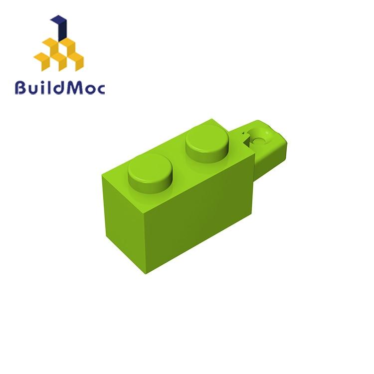BuildMOC 30541 Hinge Brick 1x2 Locking  For Building Blocks Parts DIY LOGO Educational Tech Parts Toys