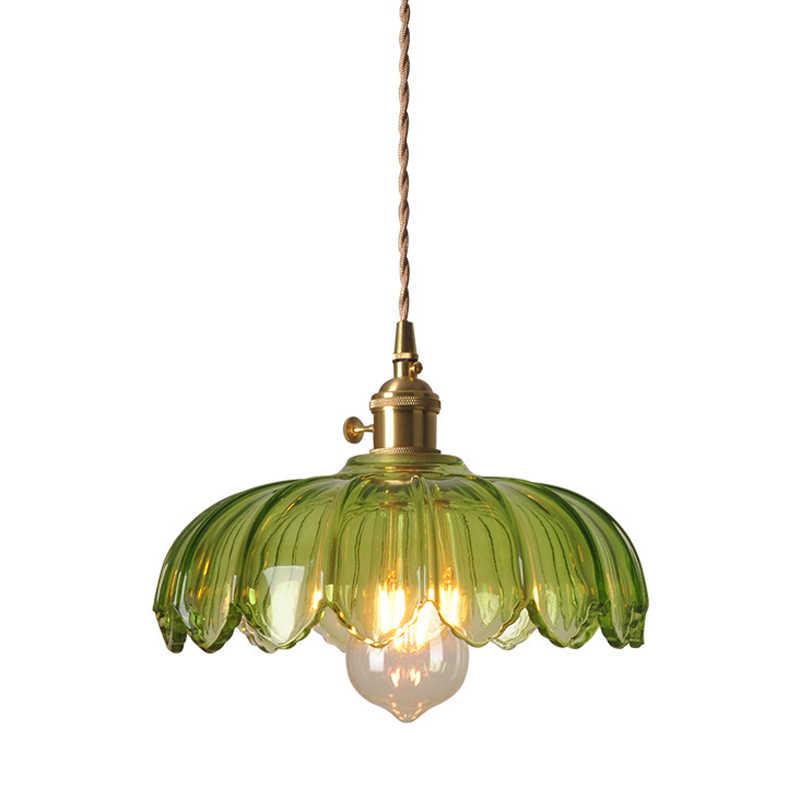 Creative Br Green Gl Pendant Lamp