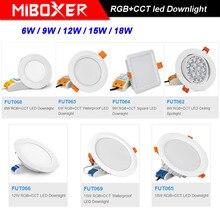 MiBOXER 6W/9W/12W/15W/18W RGB+CCT LED AC110V 220V Dimmable Ceiling Spotlight FUT062/FUT063/FUT066/FUT068/FUT069