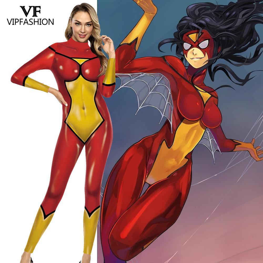 VIP FASHION Adult DC Comic Batwoman Cosplay Costume Printed Jumpsuit Superhero Zentai Suit