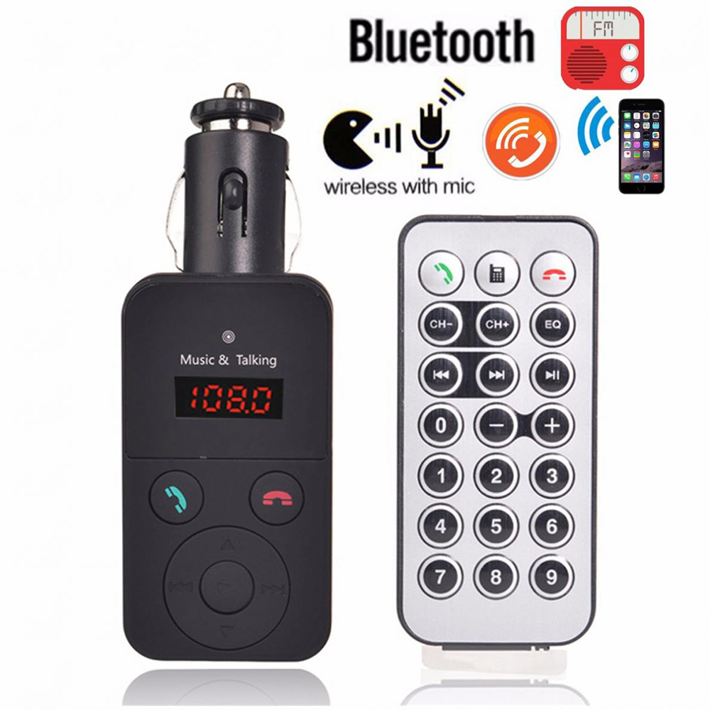 Wireless Car FM Transmitter Modulator Handsfree Bluetooth Car Kit MP3 Audio Player LCD Display Support SD USB Remote Control