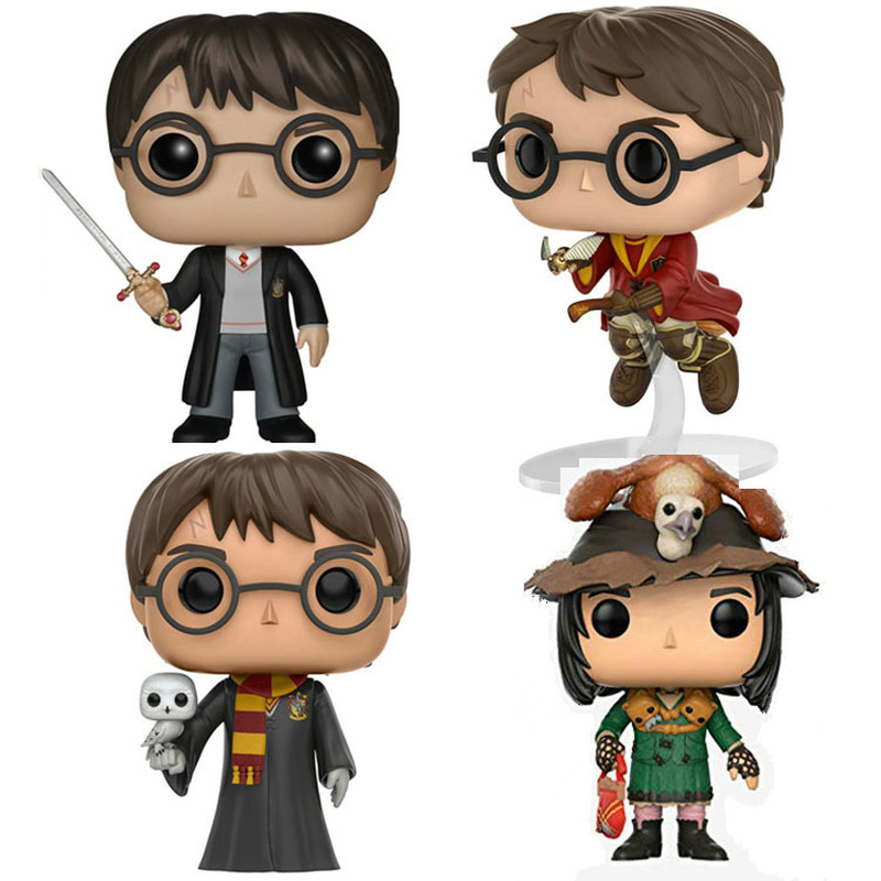 Funko POP Harri Potter Magic Broom Snape Ron Weasley Vinyl Doll Anime Figure Collection Model Boy Toys For Child Birthday Gift
