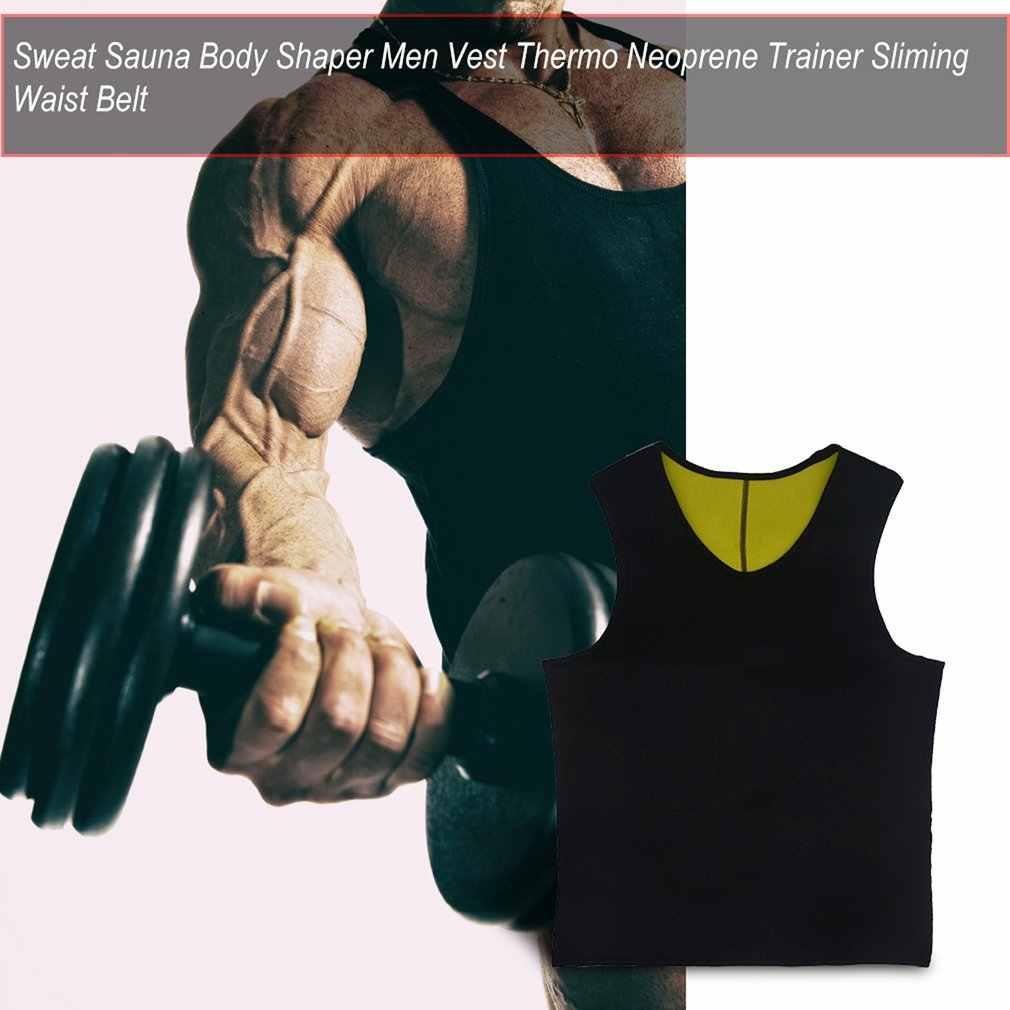 Schweiß Sauna Body Shaper Männer Abnehmen Weste Thermo Neopren Trainer Sliming Taille Gürtel Langlebig Und Komfortabel Gewicht Verlust Weste