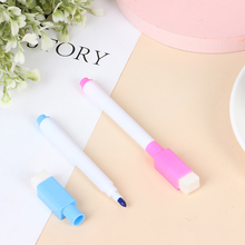 8Pcs/lot Colorful Magnet Pens Magnetic Dry Wipe White Board Markers Built In Erase Children's Drawing Pen