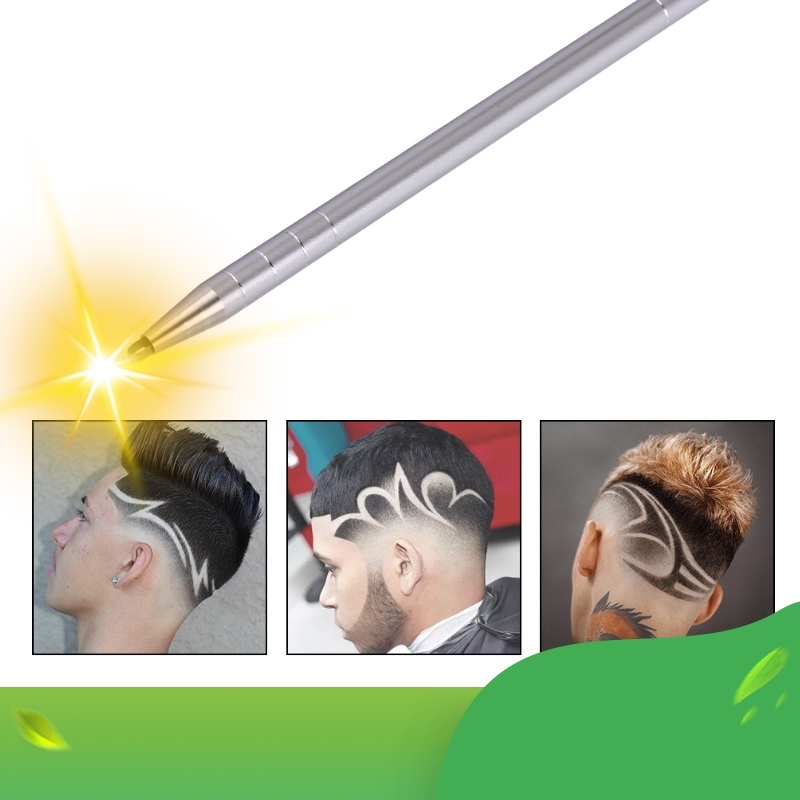 1 Hair Engraving Pen 10 Blades Hair Trimmers DIY Hairstyle Salon Magic Engraved Stainless Steel Pen Barber Hairdressing Scissors