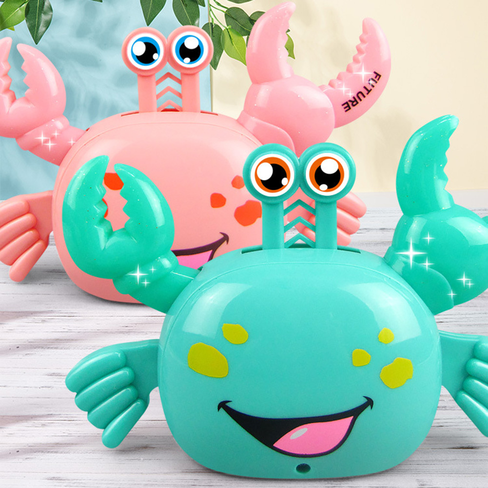 Baby Education Toy 360 Degree Walking Cartoon Electric Crab With LED Music Kids Toys For Children Infant Funny Toys Gift