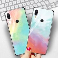 silicone case Tempered Glass Case For xiaomi redmi 7 6A 5 plus Cases Space Silicone Covers for xiaomi redmi note 5 6 7 pro back cover (2)
