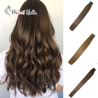 HiArt 2.5g Tape In Adhesive Extensions Salon Skin Weft Double Drawn Remy Hair Russian Human Pre Bonded Hair Extension 18 26