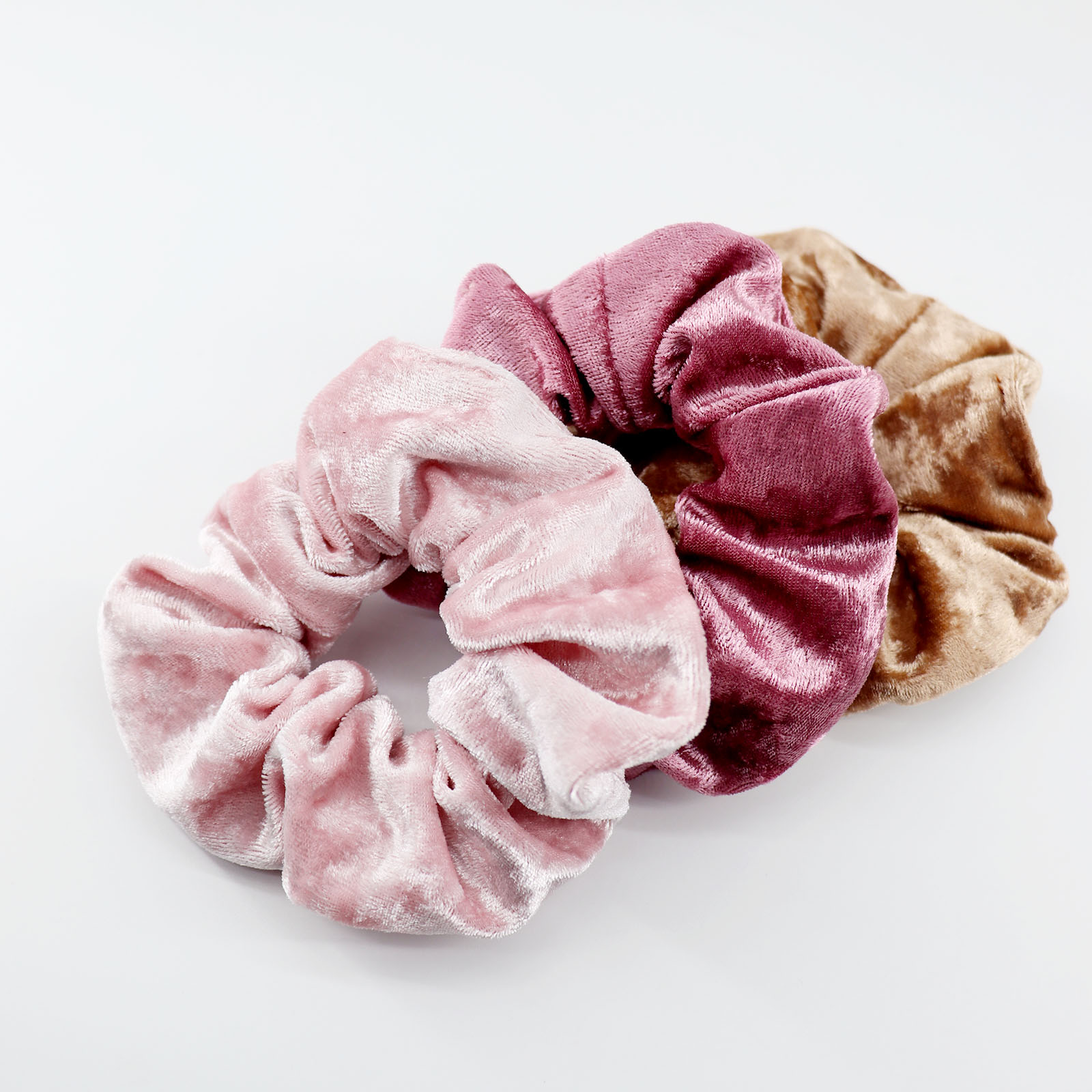 Soft Crushed Velvet Scrunchies Hair Tie Girl Hair Rope Scrunchy Hairband Wrist Accessories For Women Elastic Ponnytail Holder