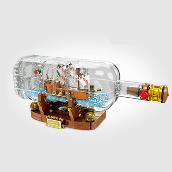 IN Stock Creative Ship In A Bottle Model Building Blocks Bricks Classic for Children Toy Compatible  16051 21313