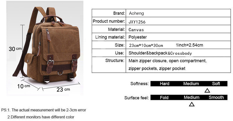 Canvas Multifunctional Backpack 41