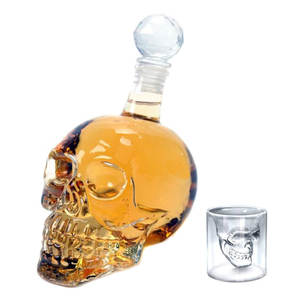 Decanter Glass Skull-Bottles Wine Vodka Gothic 1000ML 125ML 350ML Flagon Creative