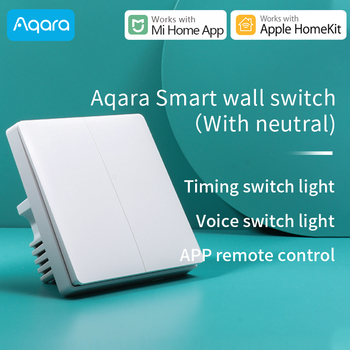 Aqara wall Switch/Switch D1 Smart light switch Smart Home remote voice control ZigBee Work with Xiaomi Mi Home Apple HomeKit APP контроллер xiaomi mi smart home aqara magic cube mfkzq01lm