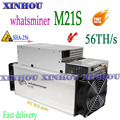 Used Asic miner WhatsMiner M21S 56T With PSU BTC BCH Bitcoin Miner better than M20S M3X antminer S9K S9j S9 S17 S15 T17 T3 T2T