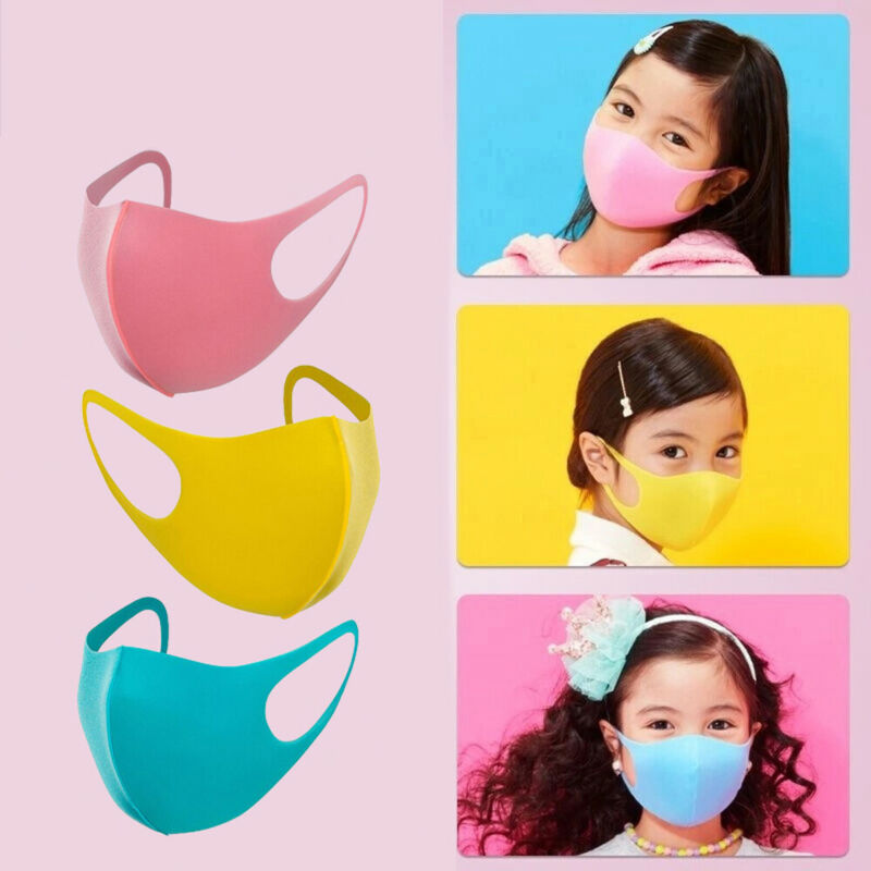 3Pcs Reusable Anti-Dust PM2.5 Kids Face Mask For Children Washable Activated Carbon Mouth Mask