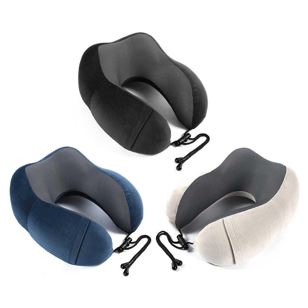 低反発 U 字型枕旅行枕飛行機インフレータブル首枕トラベルアクセサリー 3 色の飛行機オフィス旅行