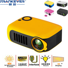 FrankEver Mini Projector 320x240 Pixels 10810P 1000 Lumens Portable LED Home Video Player Built-in Speakers Best Video Beamer
