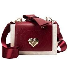 2019 new Fashion Contrast color Crossbody bag Women's Designer Handbag Stereotypes Ahoulder bag Square love Shoulder Bags
