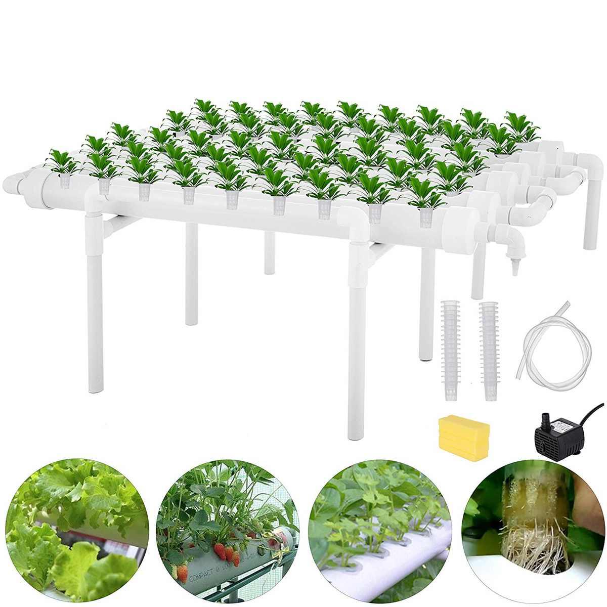 Hidropônico site crescer kit 54 locais de plantio sistema de plantas de jardim caixa de ferramentas vegetais sem solo cultivo plântula crescer kit