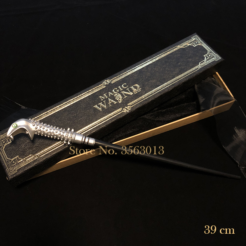 Newest Metal Core Newest Quality Deluxe Harry Moive Lucius Malfoy Magic Wands/Stick With Ribbon Gift Box Packing