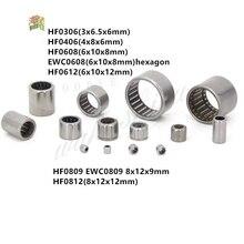 цена на 2Pcs or 10Pcs HF0306 HF0406 HF0608 HF0612 EWC0608 One way needle roller bearing 3*6.5*6mm 4*8*6mm 6*10*8mm 6*10*12mm