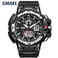 SMAEL Mode herren Uhren Top Brand Luxus Silikon Wasserdicht Sport Quarz Uhr Männer Datum Chronograph Militär Männlichen Uhr