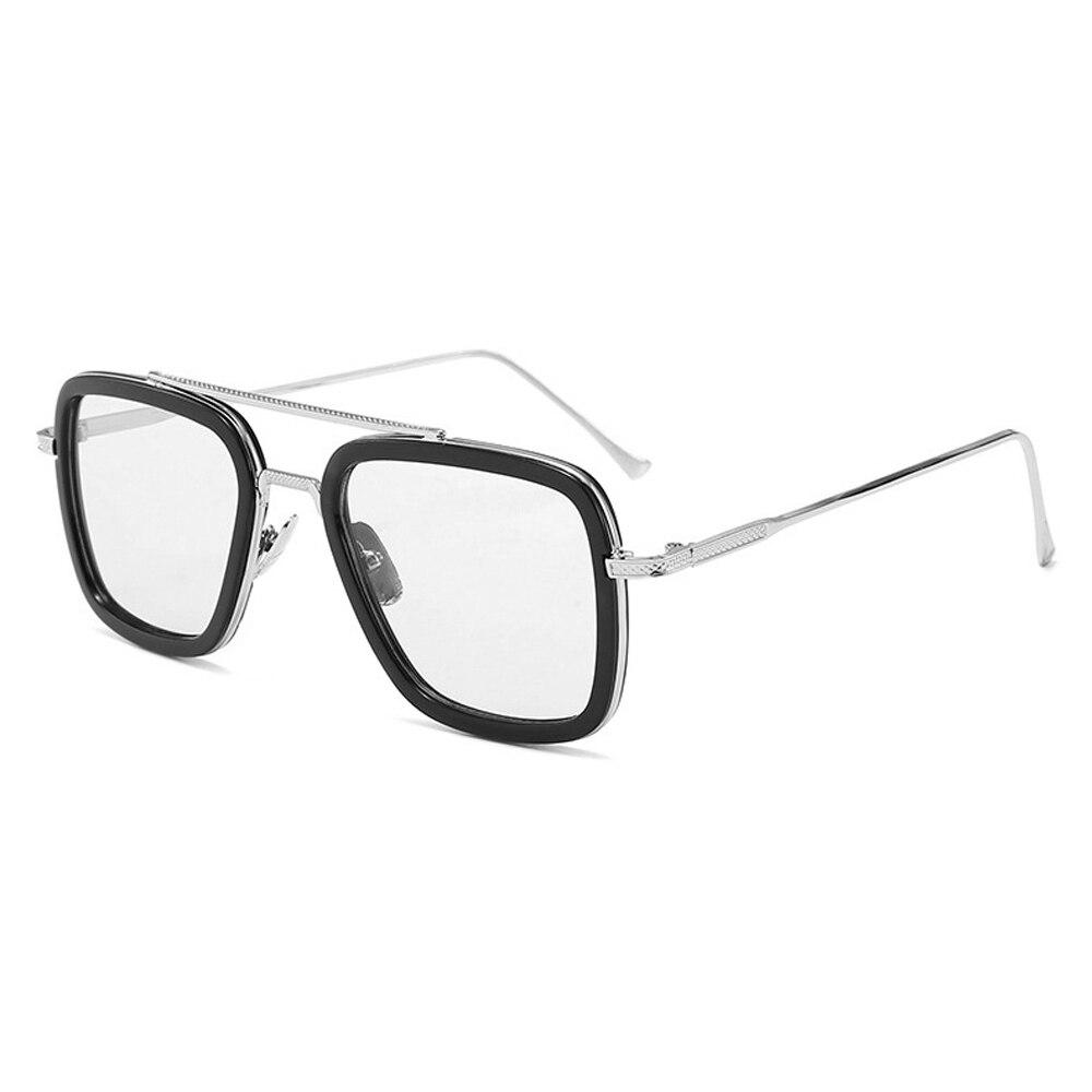 Luxury Fashion Avengers Tony Stark Style For Women Sunglasses Men Square Brand Design Sun Glasses Oculos Retro Male Iron Man