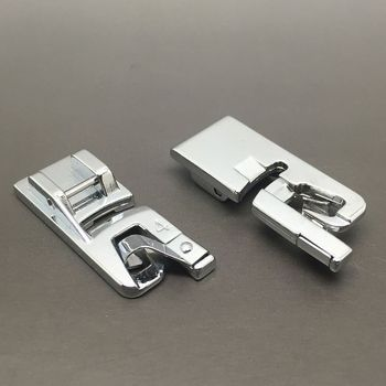 Domestic sewing machine parts presser foot 7307-4 / Hemmer Foot Snap On 4MM For Singer Brother Janome New Home Kenmore image