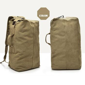 Backpack Travel Bag High Capacity Outdoors Men Canvas Field Survival Picnic Traveling Backpack 2