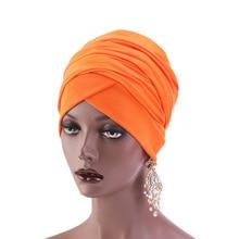 New Muslim Women Hijabs cotton hats Long Scarf Hat Inner India Turban Head Cap Lady Hair Accessories