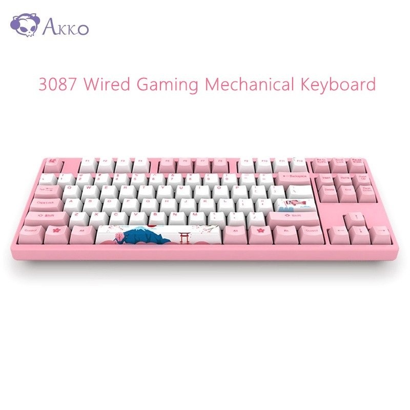 Original AKKO 3087 Gaming Mechanical Keyboard 87 Keys 85% PBT USB Type - C Wired Gaming Keyboard for PC Computer Gamer