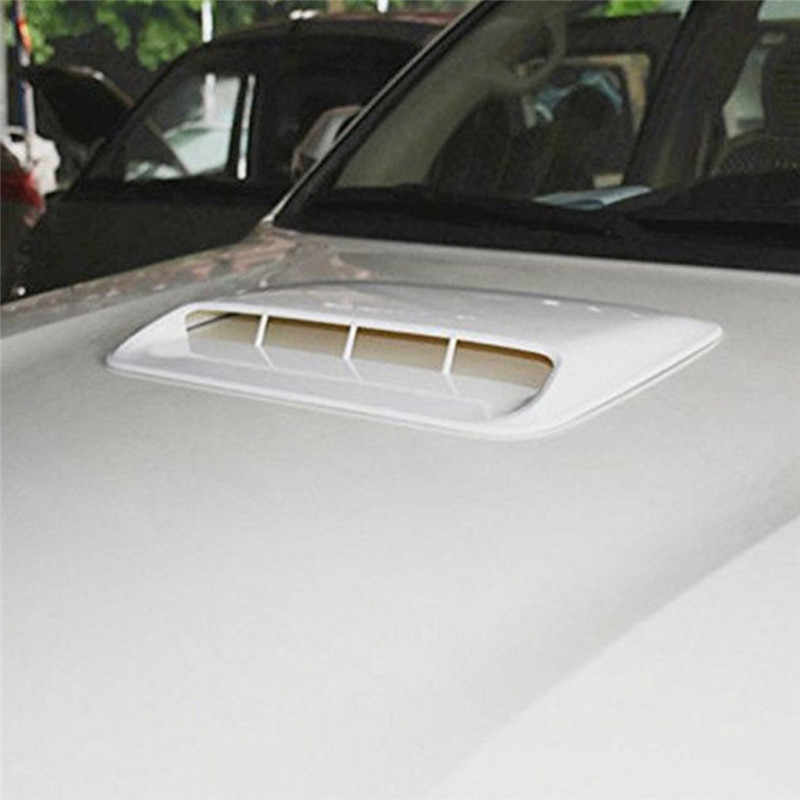 Car Styling Universale Decorativa Flusso D'aria di Aspirazione Scoop Turbo Bonnet Vent Copertura Cappuccio In Argento/bianco/nero