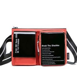 Модная маленькая сумка унисекс в стиле хип-хоп, мужская повседневная простая сумка на плечо, миниатюрная сумочка для пар, слинг через плечо, ...