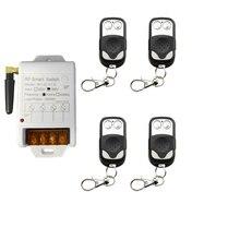Ac220v 380 v 30a 1ch 1 canal rf 433 mhz sem fio interruptor de luz controle remoto 30a saída relé módulo receptor rádio + transmissor