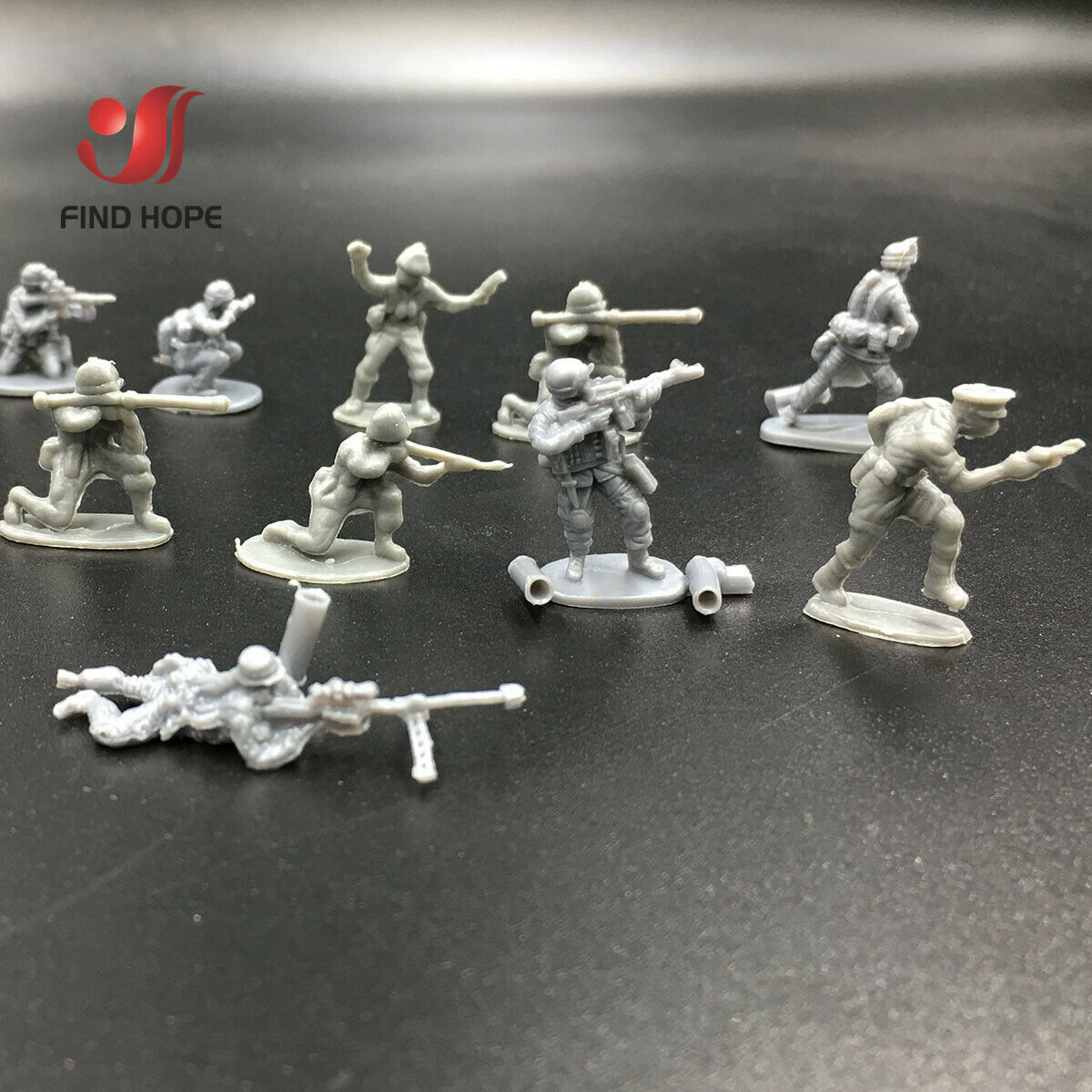 20pcs 1:72 Soldier Military Plastic Model Toy Army Action Figures Accessorie For Sandpan Game