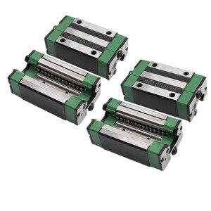 Image 3 - 4pc HGH20CA HGH15CA 선형 좁은 캐리지 슬라이딩 매치 사용 HIWIN HGR20/15 선형 레일 용 선형 가이드 CNC diy 부품