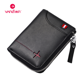 Genuine Leather Men Wallets Card Holder Rfid MiniMoney Bag Luxury Boys Wallet Leather With Coin Pocket NFC ID Credit Card Wallet men luxury genuine leather wallet automatic credit card holder aluminum retro cow mini rfid blocking wallet pocket id card purse