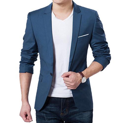 Men's Long Sleeve Suit Jackets, Slim Design Blazer Men, Business Wedding Party Male Suit Coats