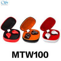 Nuevo Shanling MTW100 5,0 Bluetooth inalámbrico en la oreja Auriculares deportivos Auriculares AAC/SBC IPX7 a prueba de agua