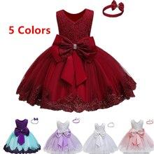 Детские Платья с цветочным узором для девочек; пышные платья; Vestidos Bebes; кружевные вечерние платья из тюля для девочек на свадьбу; Детская летняя одежда на день рождения