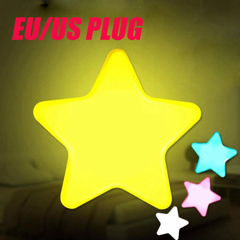 Sensor Control Mini Star Moon LED Night Light For Dark Night Children Bedroom Bedside Lamp EU/US Plug Baby Sleeping Light