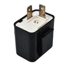 12 В 2 Pin Светодиодный мигалка Регулируемая частота поворотник мигалка Индикатор релейный резистор аксессуары для мотоциклов для Harley Yamaha