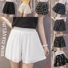Casual Shorts Bermuda High-Waisted Fashion Women Skirts Solid Chiffon Outdoor
