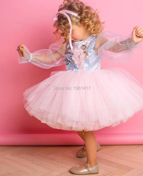 new fashion Baby girl dress Princess Lace Tulle Tutu dress floral ball gown Formal Party Dress AG0210