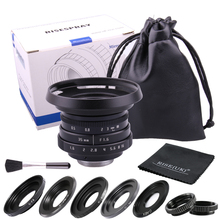 new arrive Mini 35mm f1.6 C mount camera CCTV Lens II adapter set for M4/3 / MFT Mount for N1 Fujifilm Fuji NEX  EOSM Camera 50mm f1 8 aps c cctv tv movie c mount lens for nex5 7 a6500 a7 m43 gh4 gf6 fx xt10 xt20 xt1 n1 eosm m2 m3 mirrorless camera