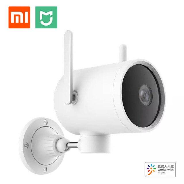 كاميرا شاومي الذكية في الهواء الطلق PTZ N1 270 درجة زاوية واسعة HD 1080P الأشعة تحت الحمراء للرؤية الليلية هوائي مزدوج إشارة IP66 العمل مع التطبيق Mijia
