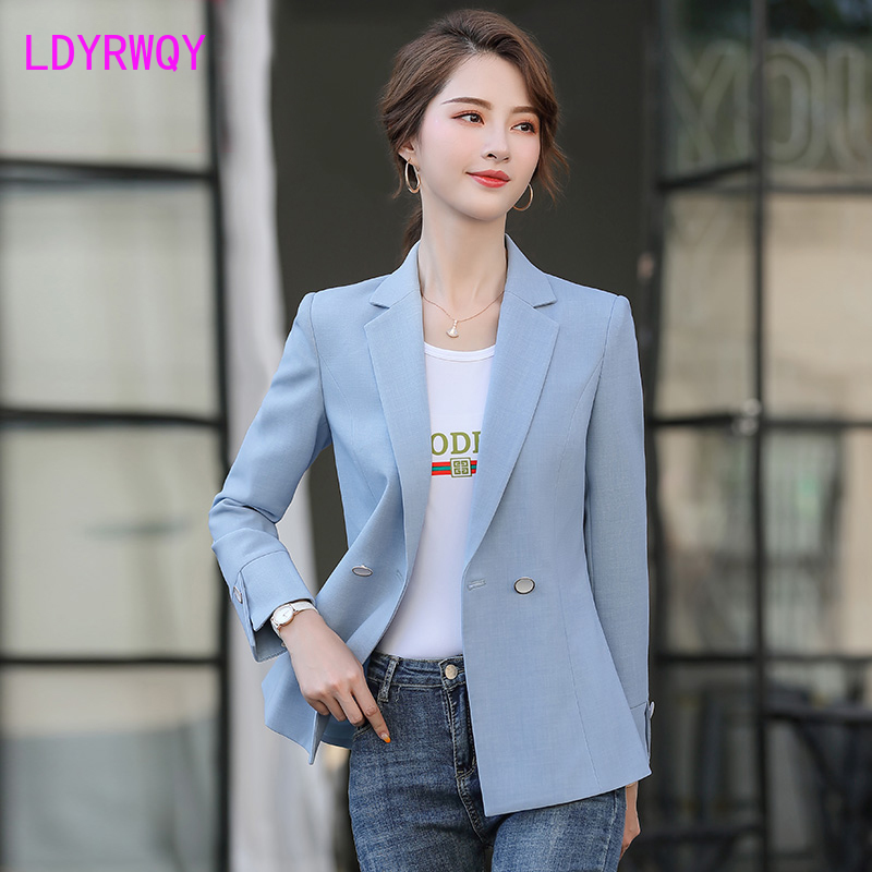 2020 New Spring And Autumn Korean Version Of The Ladies' Short Waist Casual Short Suit